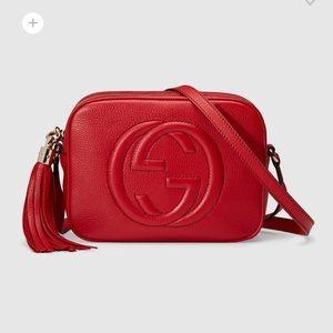 Red Gucci Soho Disco Bag